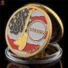 2013 Boston Marathon American Free Challenge Gold Plated USA Copy Coin For Collection
