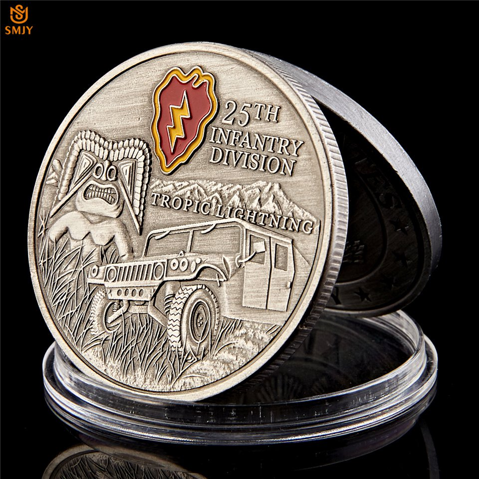 USA 25nd Infantry Division Tropic Lightning US Military Souvenir Copy Coin For Collection