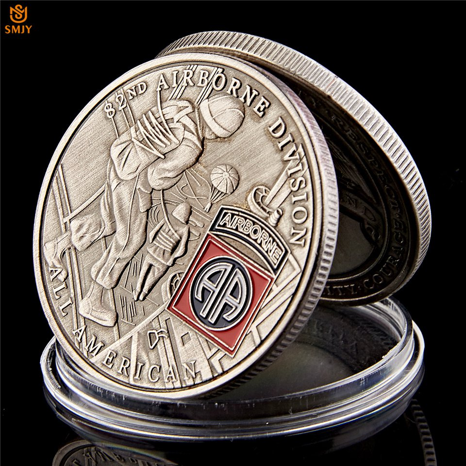USA 82nd Airborne Division US Liberty Eagle Copper Military Challenge Copy Coin For Collection