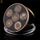 American Proud Armed Forces Serve The World Of USA Free Eagle Copper Copy Coin For Collection