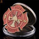 American Fire Rescue Obligatory Honor Supreme USA Flag Polygonal Memorial Copy Coin For Collection