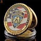 USA Heroic Sacrifice Warrior New York Police Departrment Badge Free Eagle Copy Coin For Collection