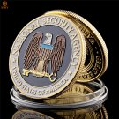 USA National Security Agency Washington.D.C Novelty Gold Challenge Copy Coin For Collection