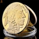2011 US $50 Buffalo Buffalo And Free Native American Gold Copy Coin For Collection