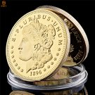 1896 USA Statue of Liberty E PLURIBUS UNUM Gold Commemorative Copy Coin For Collection