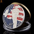 US 45th President Donald Trump Memorial Gift USA Free Eagle Copy Coin For Collection