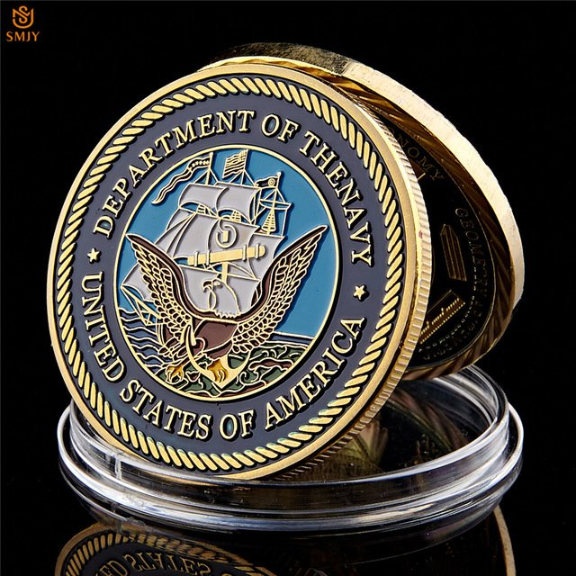 USA Military Department of The Navy Great Seal Of American Washington.D.C Copy Coin For Collection