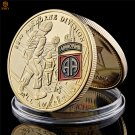 US Army 82nd Airborne Division Warrior Soldier Gold USA Challenge Copy Coin For Collection