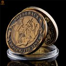 USA Navy Shellback Crossing The Line Gold American Souvenir Metal Challenge Copy Coin For Collection
