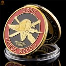 US Marine Corps Force Recon USMC Gold Plated Commemorative Copy Coin For Collection