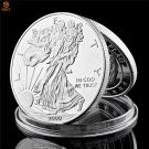2000 USA The Walking Statue Of Liberty Silver Plated Challenge Copy Coin For Collection
