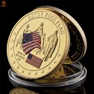 1777 American Betsy Ross Flag Birth Value Gold Plated Metal USA Copy Coin For Collection