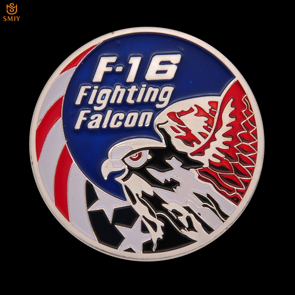 US Air Force F-16 Fight Falcon Military Coin American Challenge Copy Coin For Collection