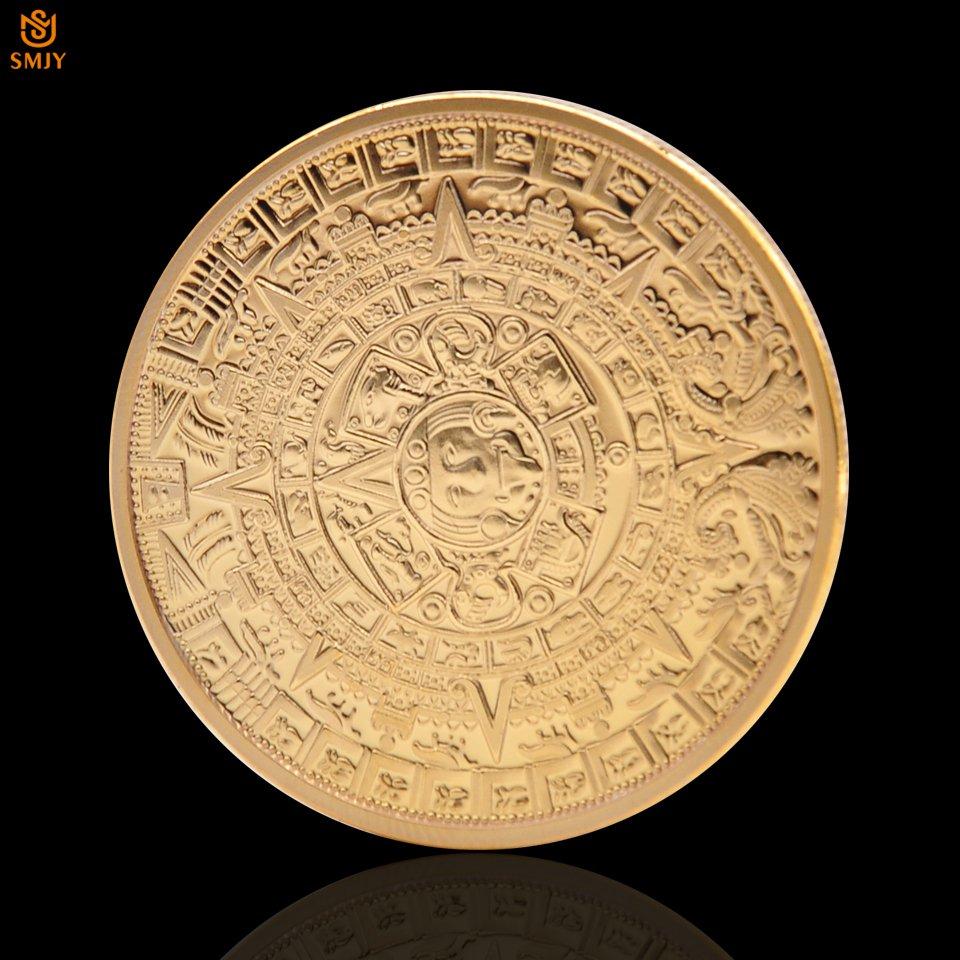Mexico Azetc Mayan Prophecy Calendar Commemorative Copy Coin For Collection