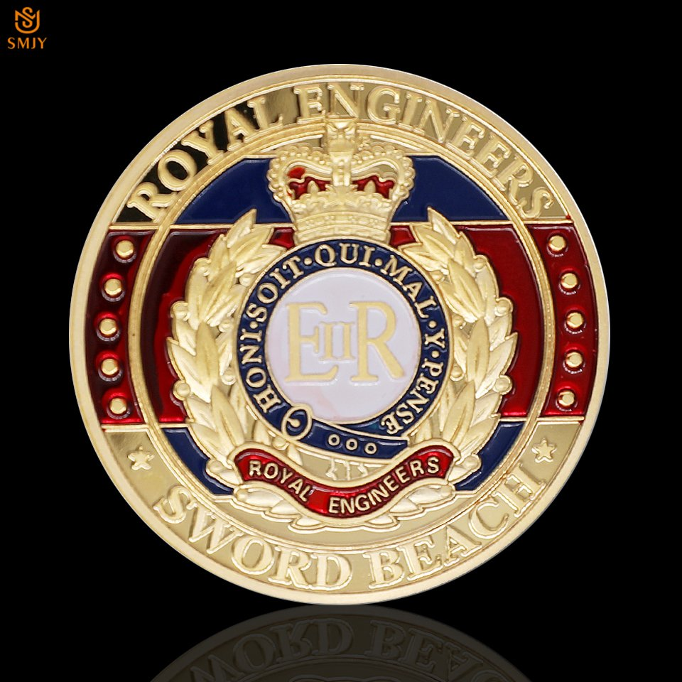 1944.6.6 D-Day Royal HR Special Customized Gold Plated Copy Coin For Collection