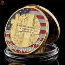 WW II Normandy Landing War Gold Plated Military Challenge Copy Coin For Collection