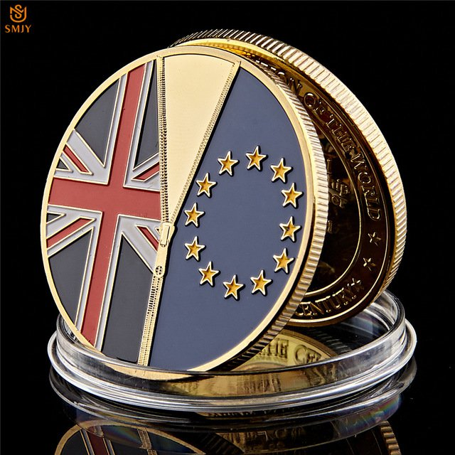 June 23 2016 UK Brexit National Vote Independent Gold Plated Copy Coin For Collection