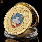 1944 WW II D-Day Action French Parachute Soldier Gold Plated Challenge Copy Coin For Collection