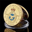 1940-1945 Luxembourg Veterans Royal Air Force Military Gold Challenge Copy Coin For Collection