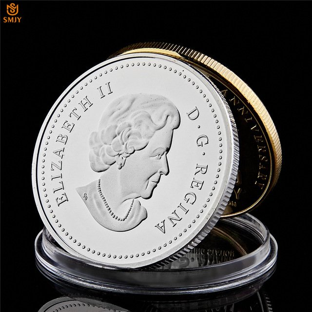 Italian Catholic Pope St. John Paul II British Elizabeth II Silver Plated Copy Coin For Collection