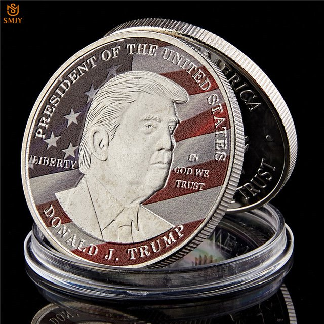 US President Donald Trump Make America Great Again Uncirculated Copy Coin For Collection