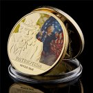 "US National Incarnation Uncle Sam ""I Want You for U.S. Army"" Gold Plated Copy Coin For Collection"