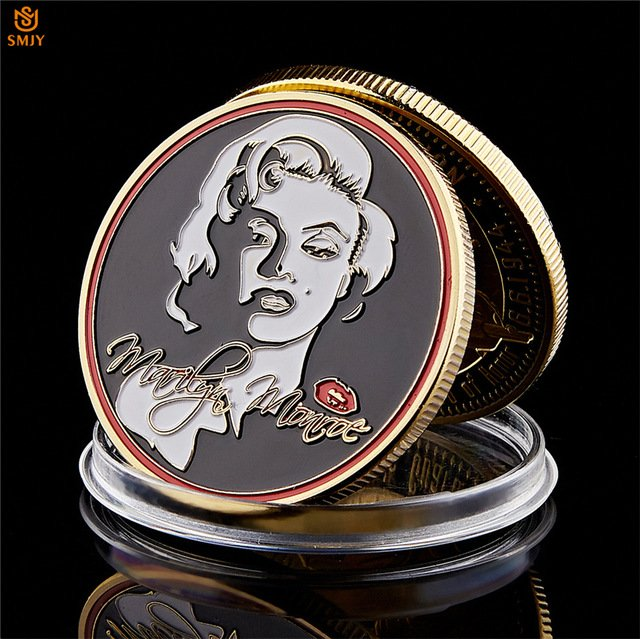 1962 American Film Star Marilyn Monroe Gold Plated Token USA Copy Coin For Collection