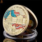 2009 US President Barak Hussein Obama Inauguration Gilded Challenge Copy Coin For Collection
