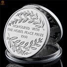 1993 Nobel Peace Prize Winner South Africa President Nelson Mandela Silver Copy Coin For Collection