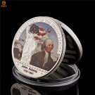 1797-1801 USA Second President John Adams Silver Plated Copy Coin For Collection