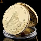 USA Emblem World Masonic Symbol Gold Egyptian Pyramid Commemorative Copy Coin For Collection