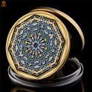 Ramadan Kareem Octagonal Saudi Arabic Islamic Gold Plated Copy Coin For Collection