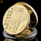 2015 Zambia Republic 1oz.999 African Elephant 10000 Kwacha Gold Copy Coin For Collection