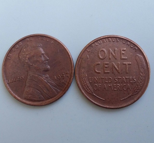 1 Pcs 1957d LINCOLN ONE CENTS COPY Coin