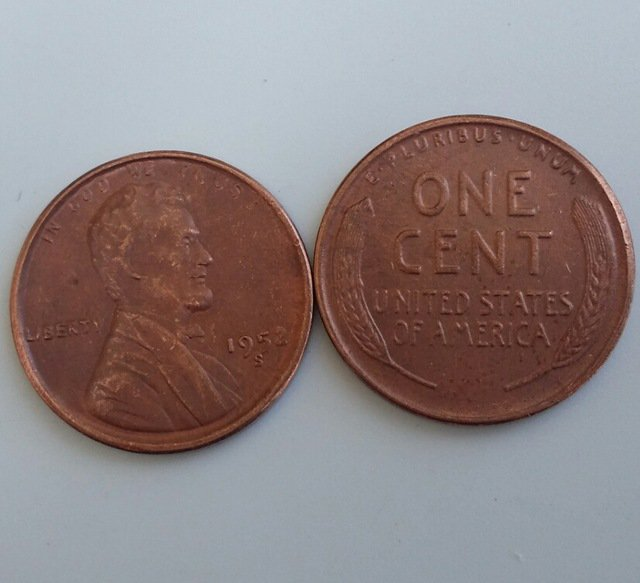1 Pcs 1952s LINCOLN ONE CENTS COPY Coin
