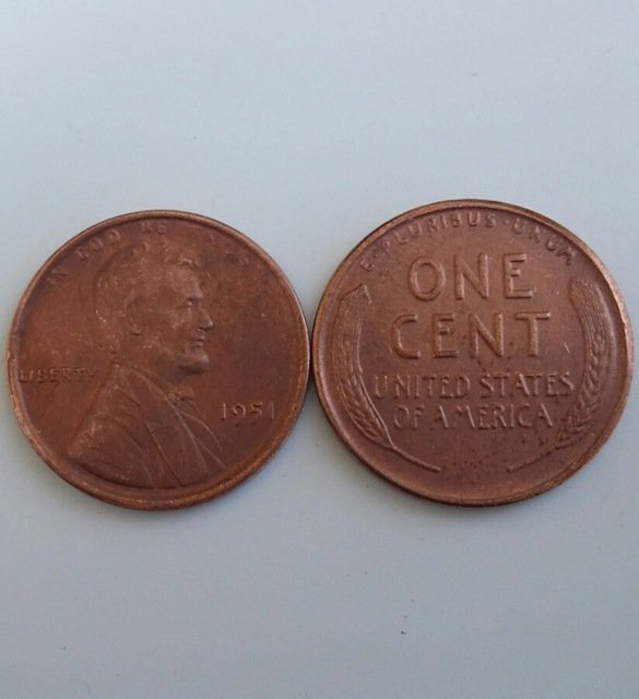 1 Pcs 1951 LINCOLN ONE CENTS COPY Coin