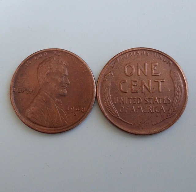 1 Pcs 1948s LINCOLN ONE CENTS COPY Coin