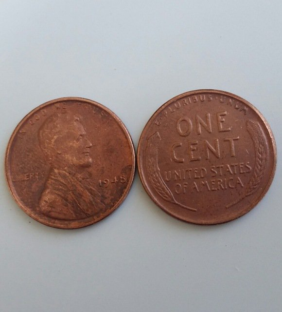 1 Pcs 1948 LINCOLN ONE CENTS COPY Coin