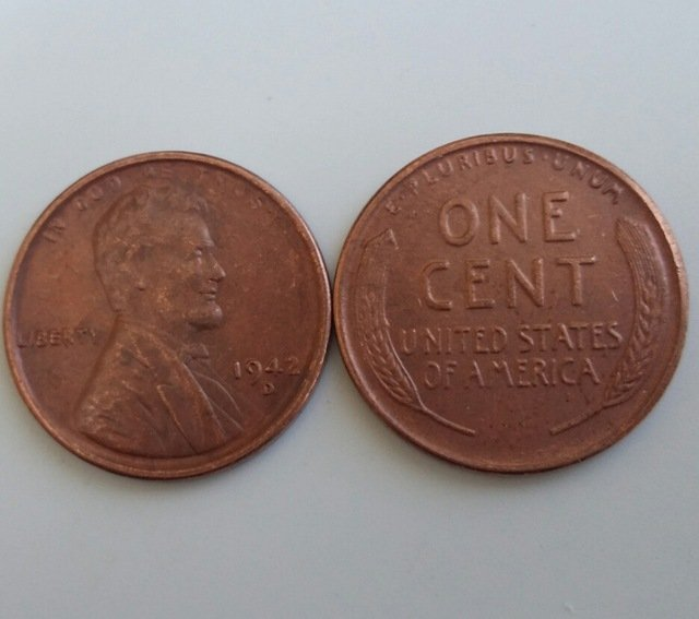 1 Pcs 1942d LINCOLN ONE CENTS COPY Coin