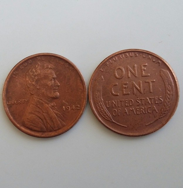 1 Pcs 1942 LINCOLN ONE CENTS COPY Coin