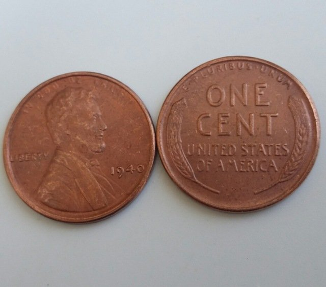 1 Pcs 1940 LINCOLN ONE CENTS COPY Coin