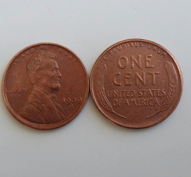 1 Pcs 1939s LINCOLN ONE CENTS COPY Coin