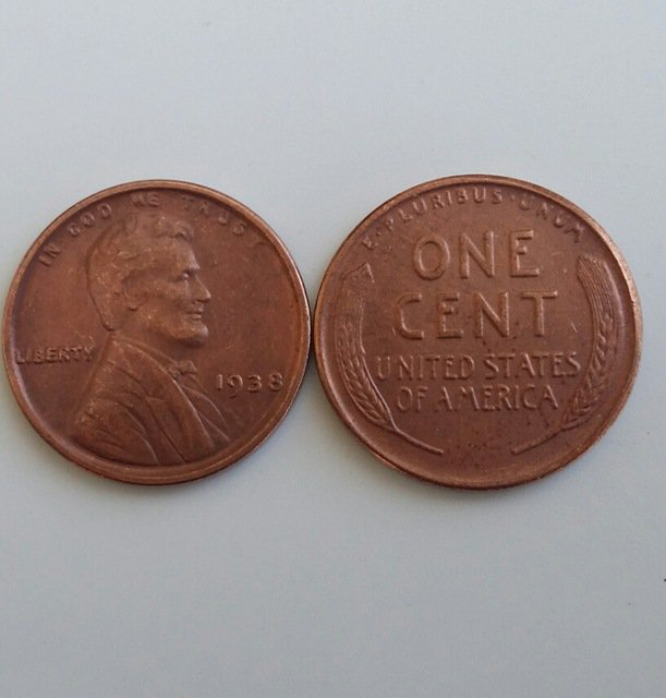 1 Pcs 1938 LINCOLN ONE CENTS COPY Coin