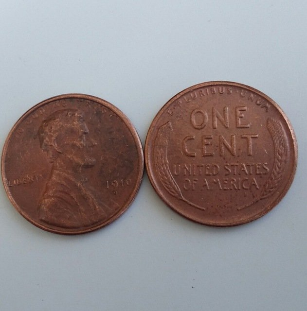 1 Pcs 1910D LINCOLN ONE CENTS COPY Coin