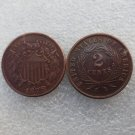 1 Pcs United States 1873 Two Cents Copper Manufacturing Copy Coins