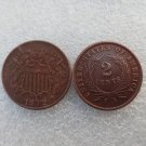 1 Pcs United States 1872 Two Cents Copper Manufacturing Copy Coins