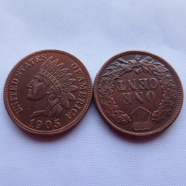1 Pcs 1905 ONE CENT - INDIAN HEAD CENTS copy coin