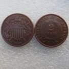 1 Pcs United States 1869 Two Cents Copper Manufacturing Copy Coins