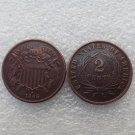1 Pcs United States 1866 Two Cents Copper Manufacturing Copy Coins