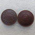 1 Pcs United States 1865 Two Cents Copper Manufacturing Copy Coins